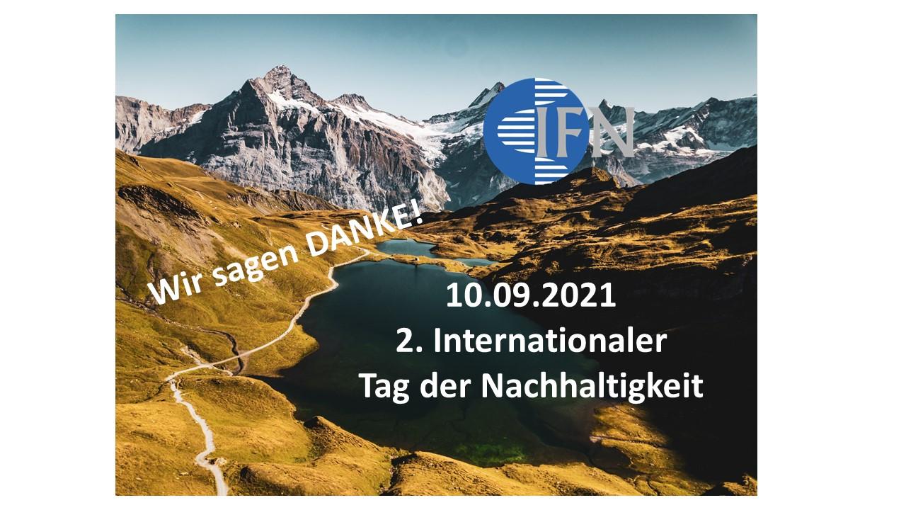 Banner 2. Internationaler Tag der Nachhaltigkeit_Danke
